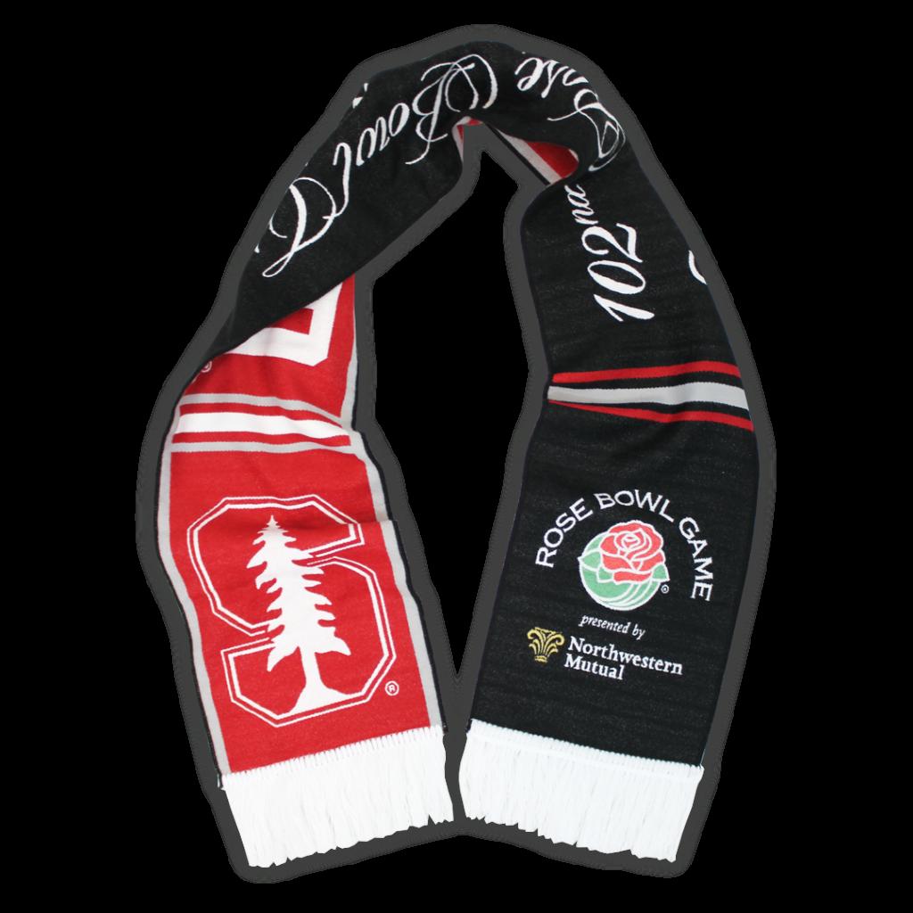 custom woven scarves stanford rose bowl