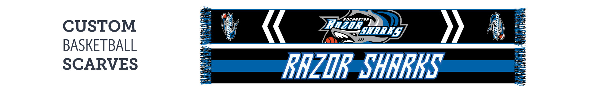 custom basketball scarves