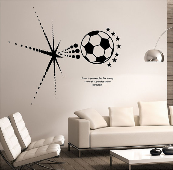 Soccer ball wall decal.