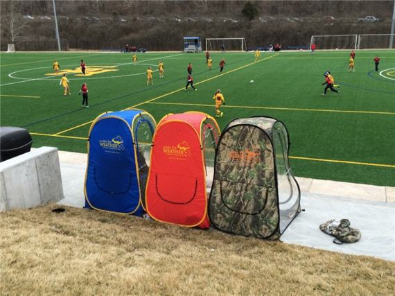 A pod you can site in during outdoor sporting events and more.