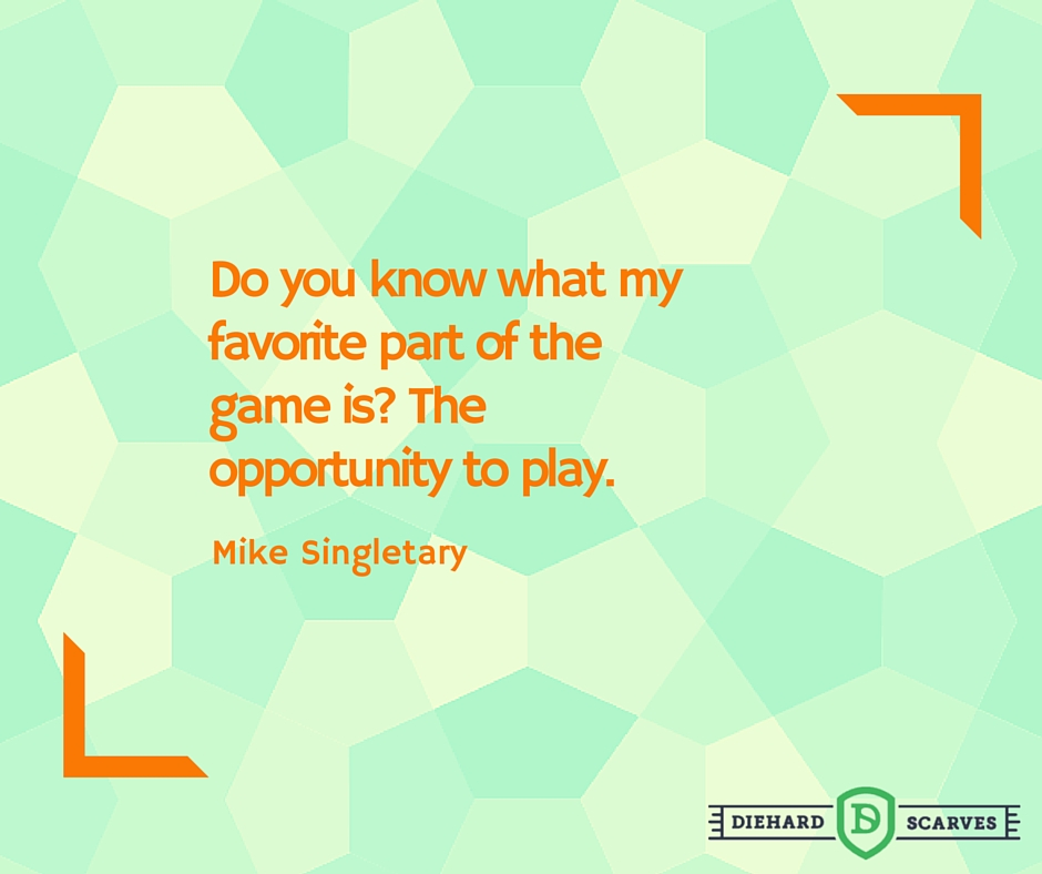 Do you know what my favorite part of the game is? The opportunity to play - motivational sports quote.