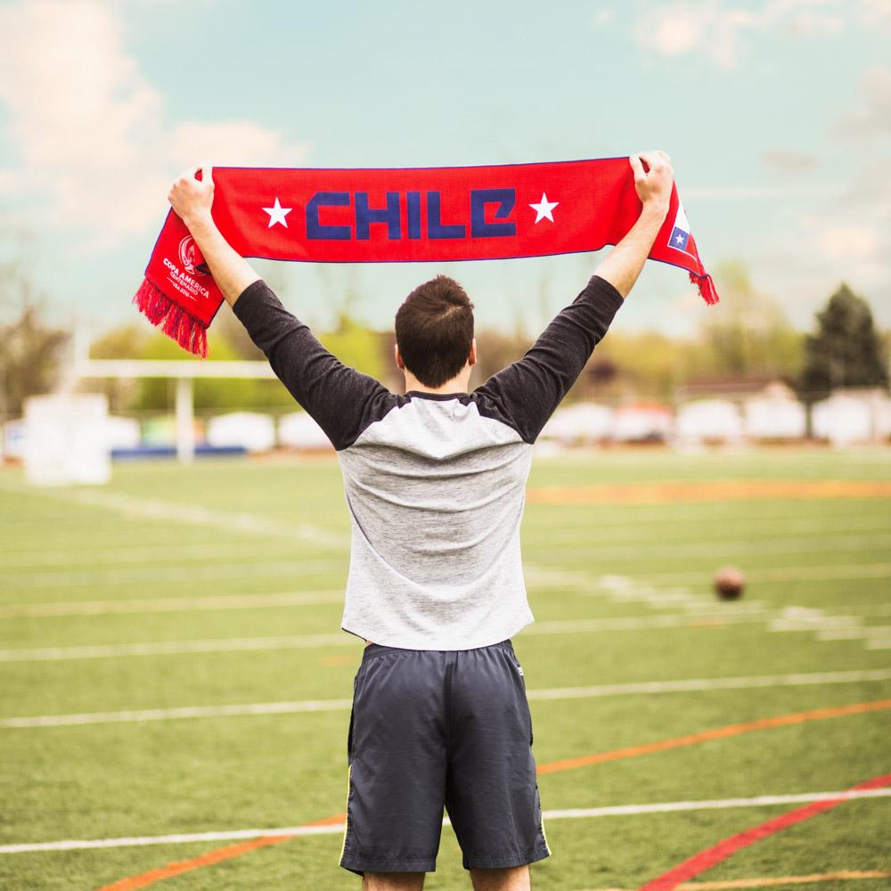 chile copa america knit scarf diehard scarves