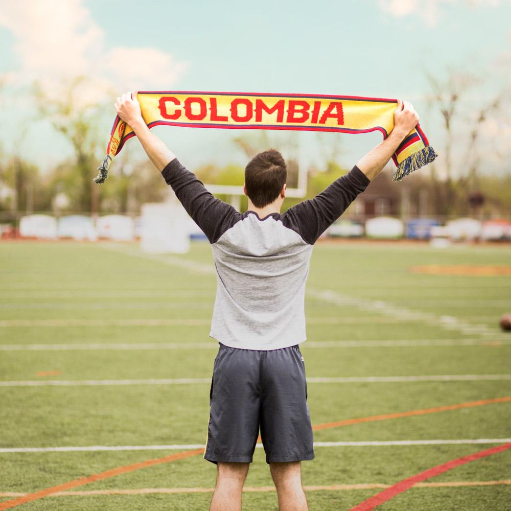 colombia copa america knit scarf diehard scarvves