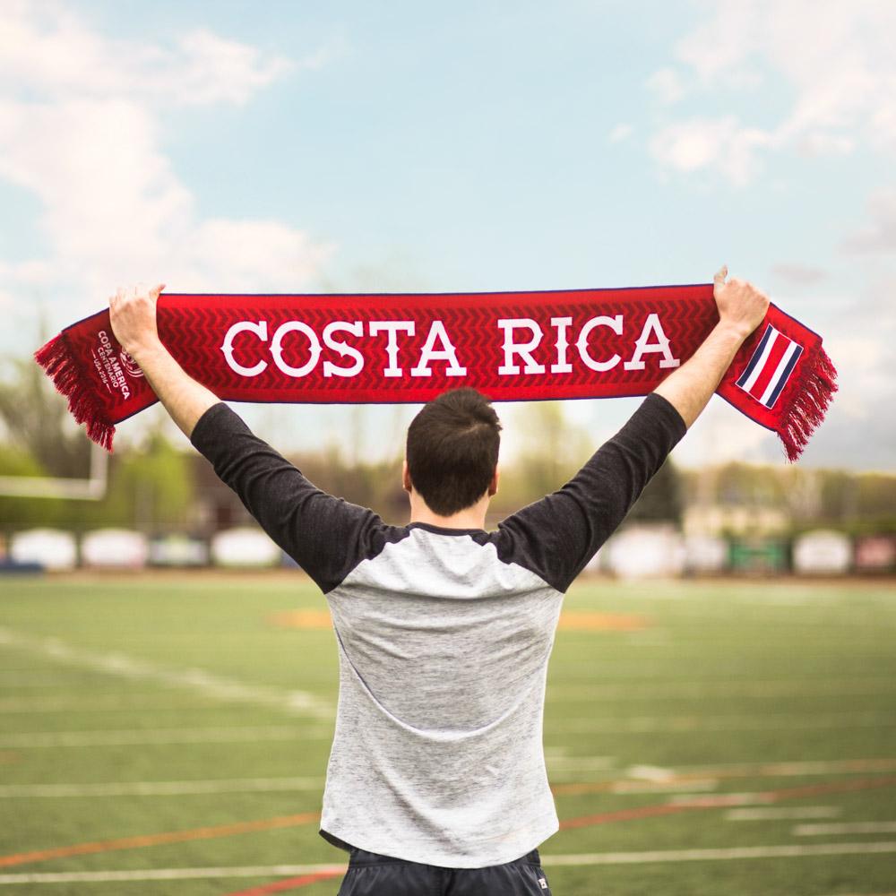 costa rica copa america hd woven scarf diehard scarves