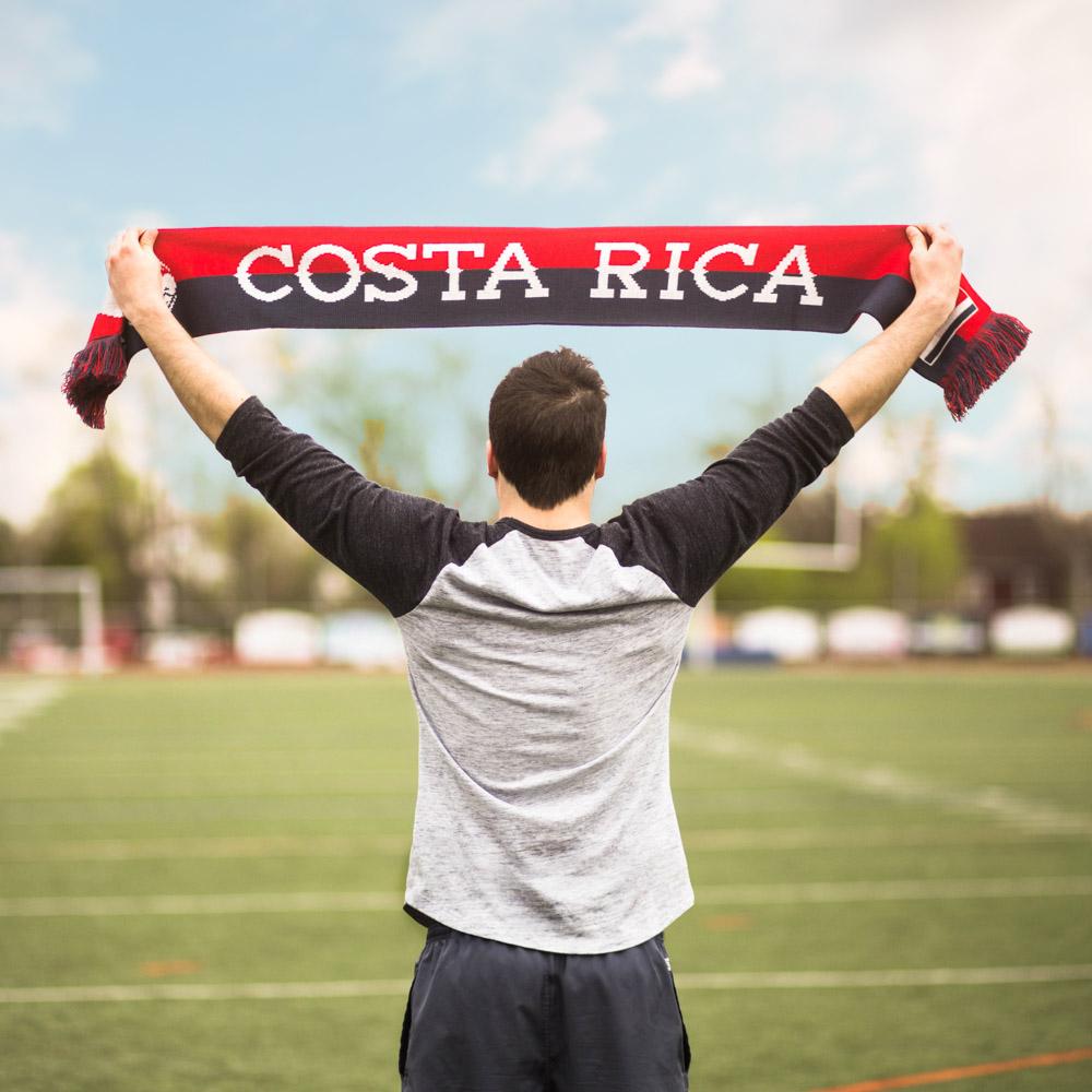 costa rica copa america knit scarf diehard scarves