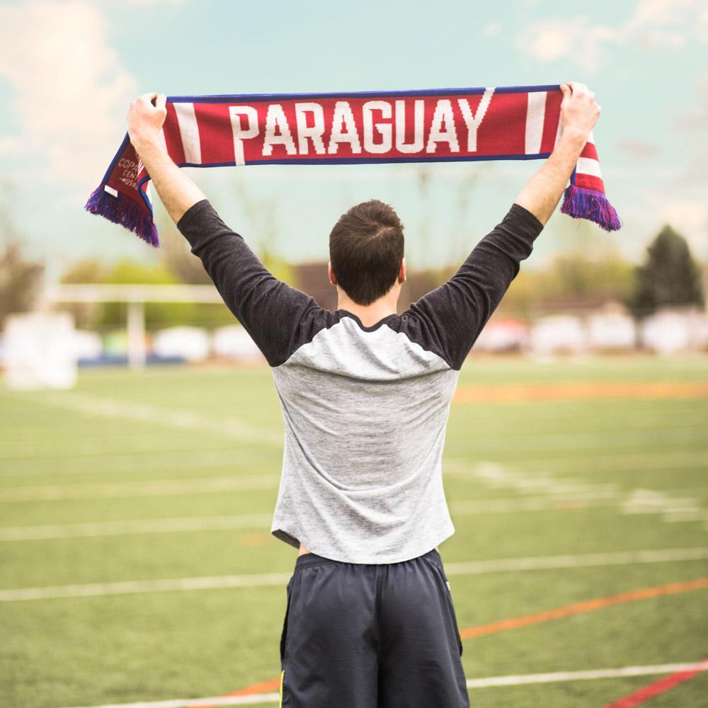 paraguay copa america knit scarf diehard scarves