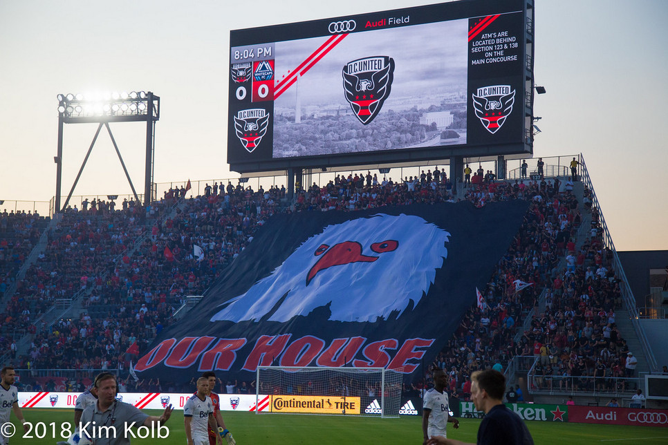 D.C. United's Screaming Eagles section at Audi Field