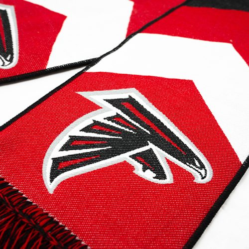 red and white striped falcon hd woven scarf by Diehard Custom