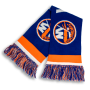 orange and blue New York Islanders hockey premier USA scarf designed by Diehard Custom