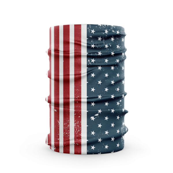 american flag face gaiter, neck scarf, face cover - Diehard Custom USA protective face guard