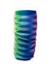 LGBTQ Pride month cylindrical protective face guard, head wrap, or gator with blue, green, and purple rainbow gradient standing straight up