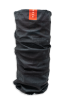 cylindrical protective face guard or gaiter scarf with black and grey stars and stripes pattern and red tag with white stars standing up