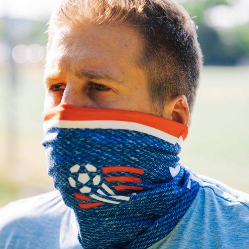 man wearing protective face gaiter mask - Diehard Custom shop