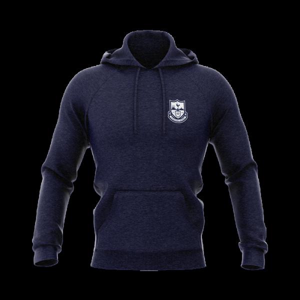 Lansing Spurs navy hoodie with white crest - Diehard Custom Fundraising