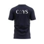 back of Lansing Spurs navy Tri Blend shirt with white CYS letters - Diehard Custom Fundraising