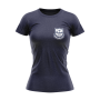 Lansing Spurs navy womans Tri Blend shirt with white crest - Diehard Custom Fundraising