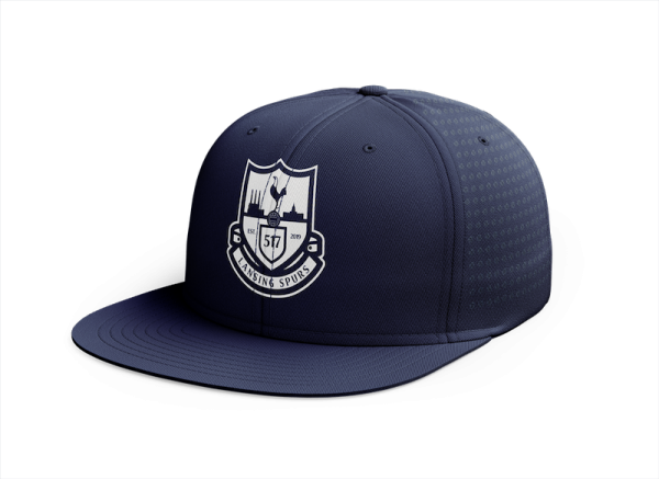 Lansing Spurs navy with white crest custom perforated hat - Diehard Custom Fundraising
