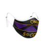 ONU Soccer in gold letters on black, gold, and purple protective custom face mask- Diehard Custom Fundraising